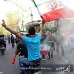 شادی مردم ابهر بعد از راهیابی ایران به جام جهانی + عکس